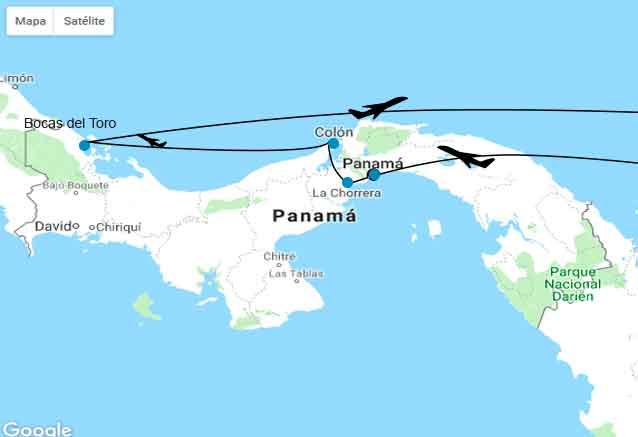Viaje playas cultura panama mapa panama