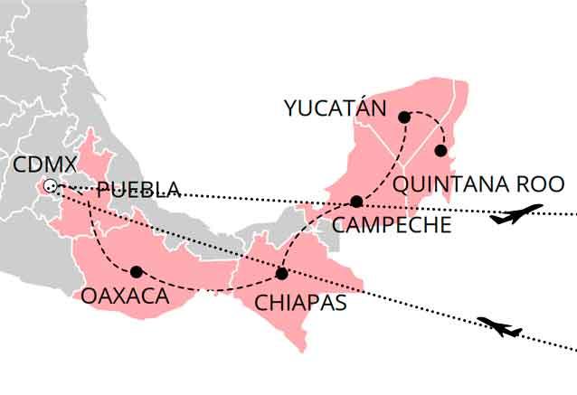 Viaje mejico cultural mapa culturas de mexico bidtravel